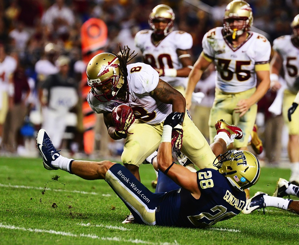 #8 Devonta Freeman RB JR – He had a great game, when FSU gave him the ball…..5.8 yards per carry.