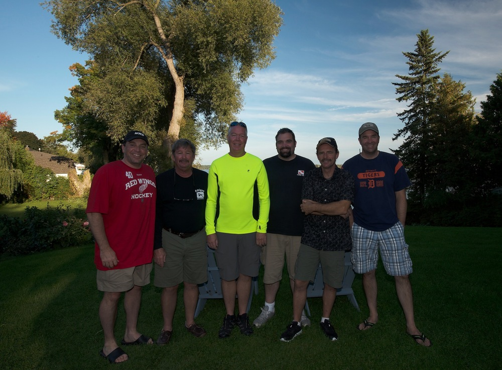 Here is the dive team (left to right): Brook, Tom, Larry, Kyle, Steve, and Scott