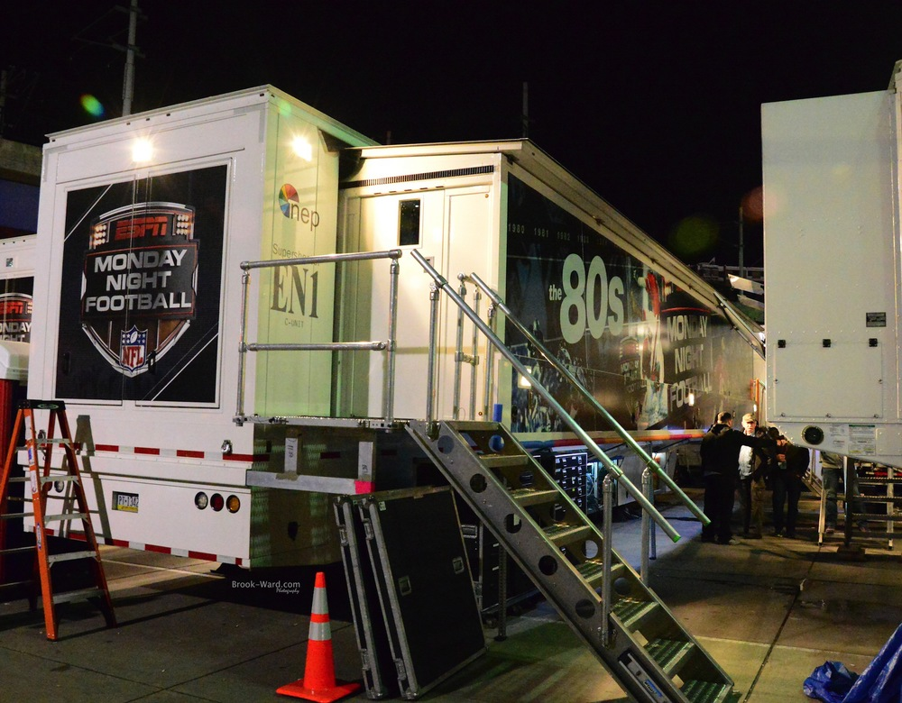 Monday Night Football trucks