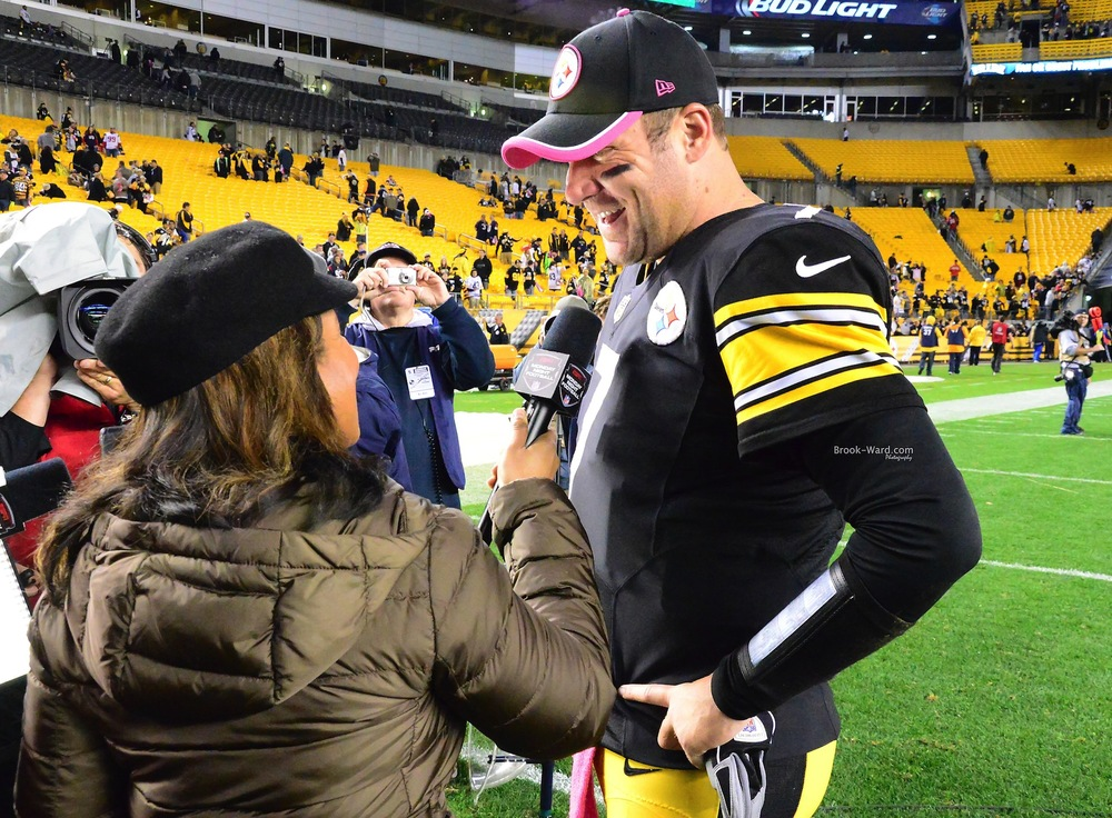 Lisa Salters interviewing Big Ben