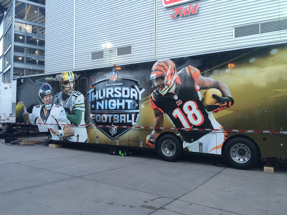 CBS Thursday Night Football truck (taken with my iPhone)