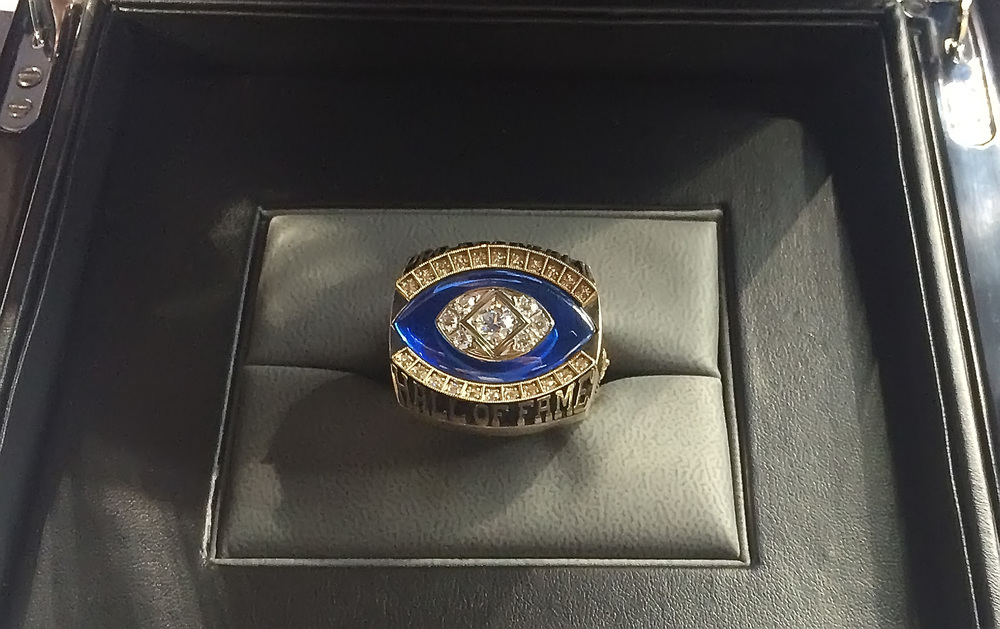 Jerome Bettis' Hall of Fame Ring (taken with my iPhone)