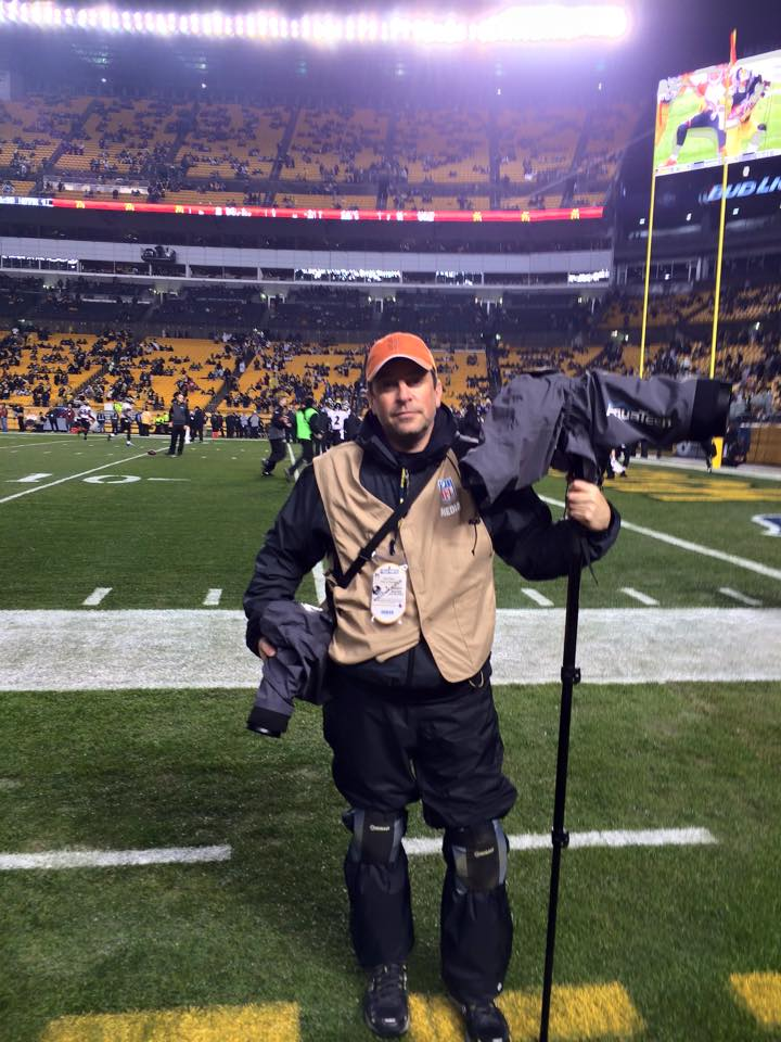 Covering a Pittsburgh Steelers game with my all weather gear