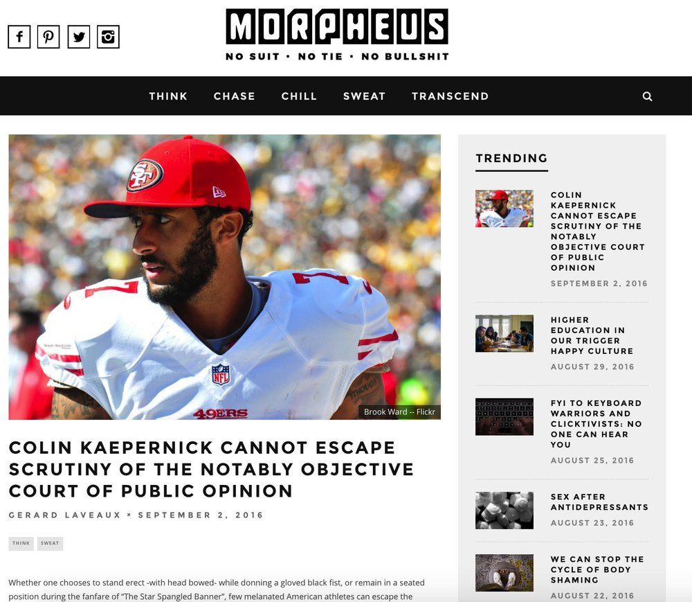 This is a screen shot of the Morpheus.com article.