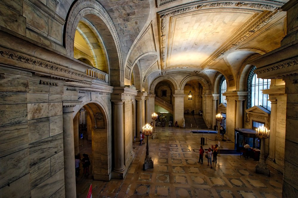 NYC Public Library - Entrance
