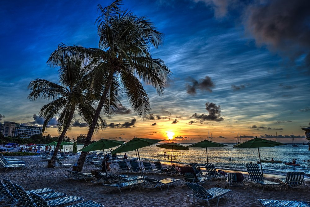 Barbados Blue Sunset