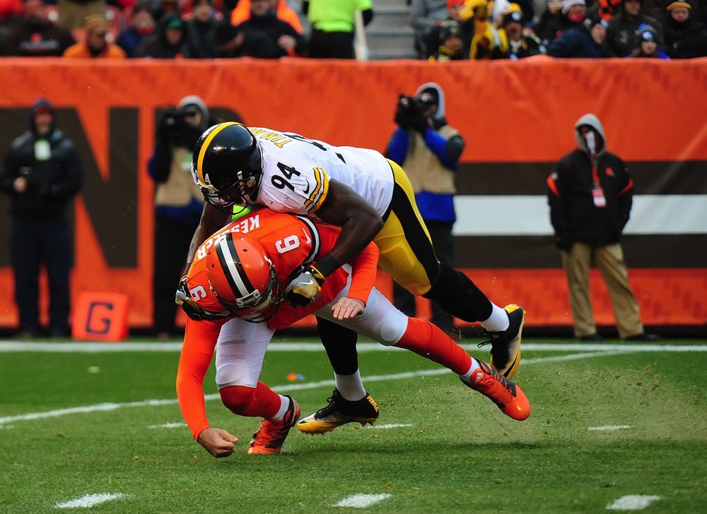 Lawrence Timmons sacking Cody Kessler