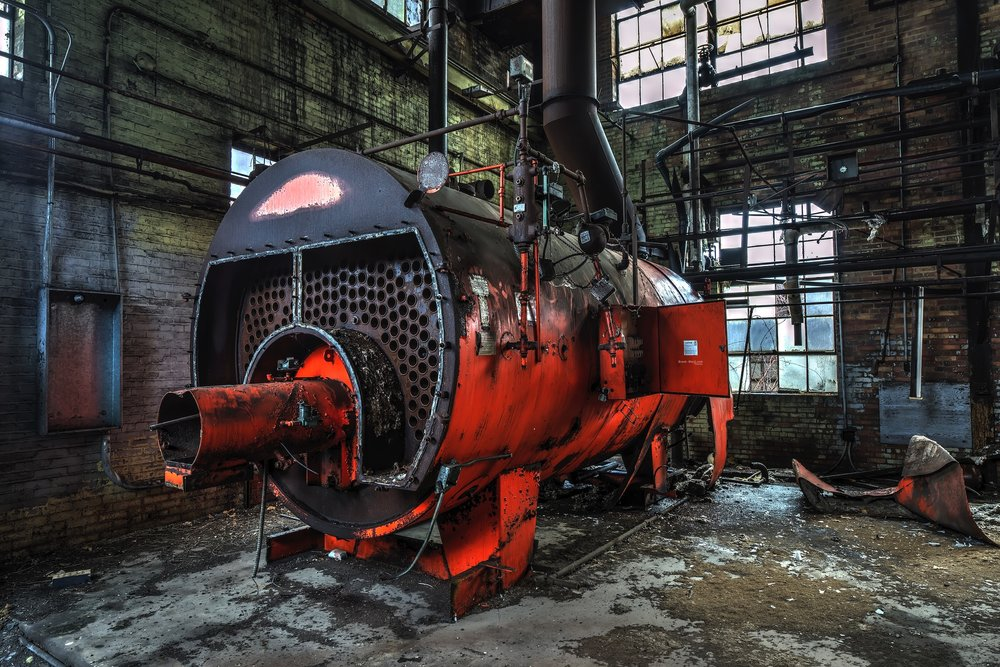 Abandoned China Factory Boiler