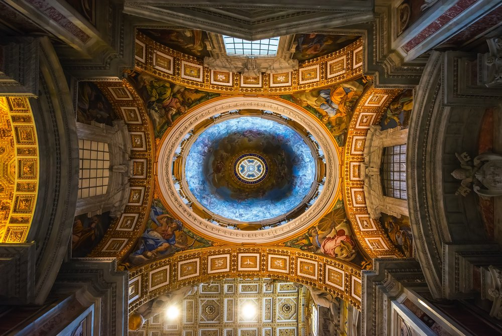 Ceiling inside St. Peter's Basilica