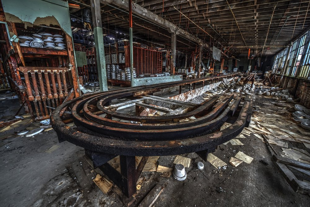 Abandoned China Factory Assembly Line