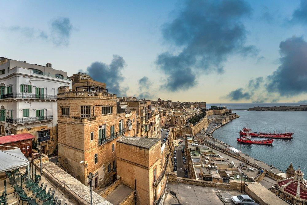 Valletta Malta with Sleeklans Overlay sky applied