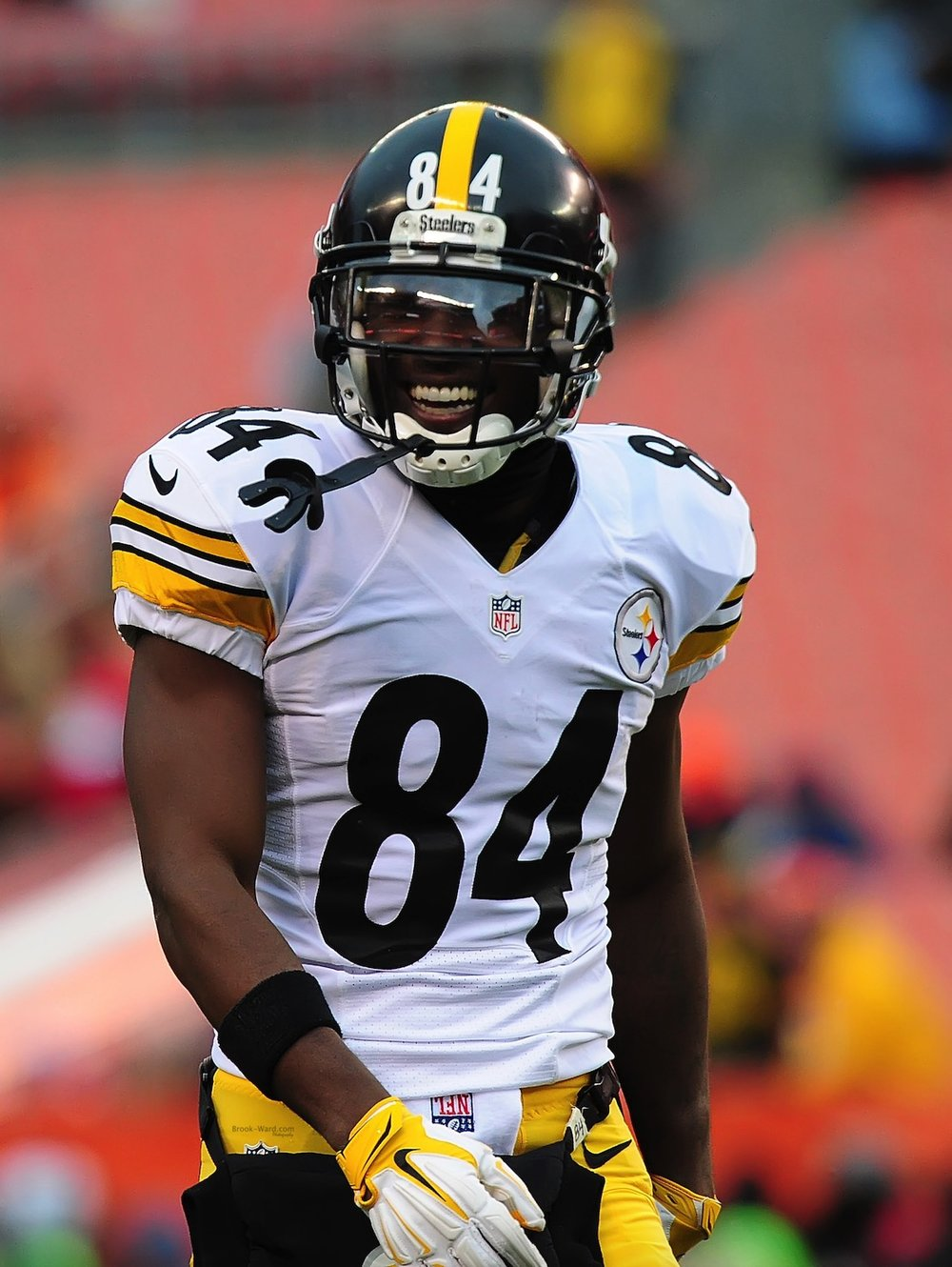 Smiling Antonio Brown