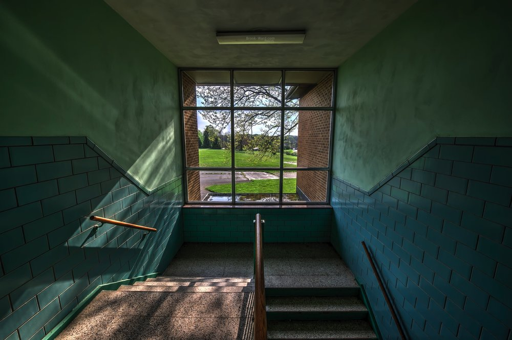 Abandoned School Stairwell