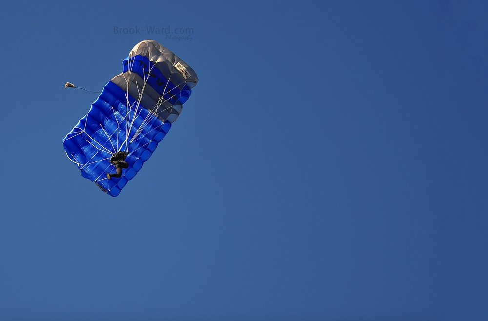 Minimalist Parachute Photo Over Pittsburgh