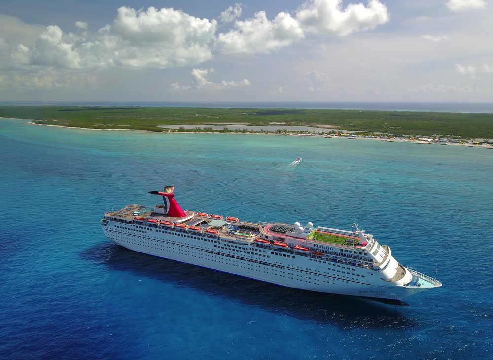 Carnival Elation near Princess Cay