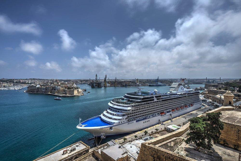 Valletta Malta - Carnival Vista in harbor