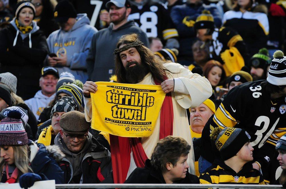 Jesus is a Steelers' Fan.