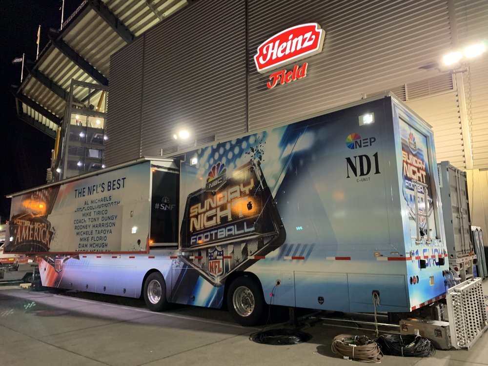 Sunday Night Football TV Crew Trailer
