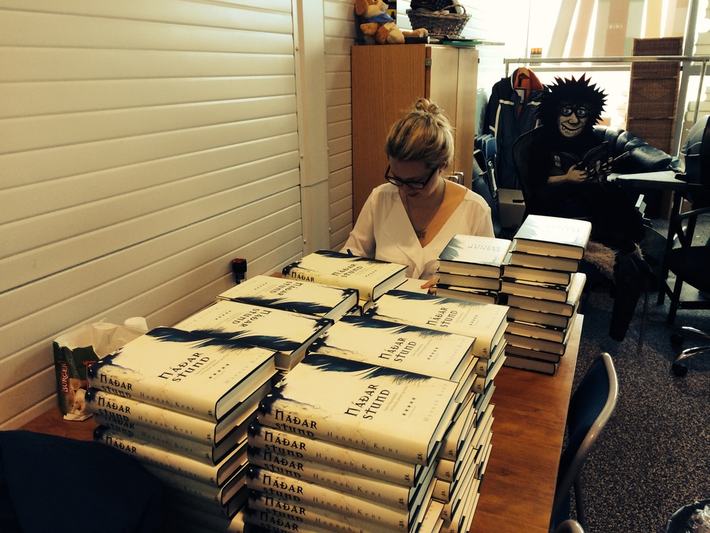 Signing copies of Náðarstund at Forlagið.