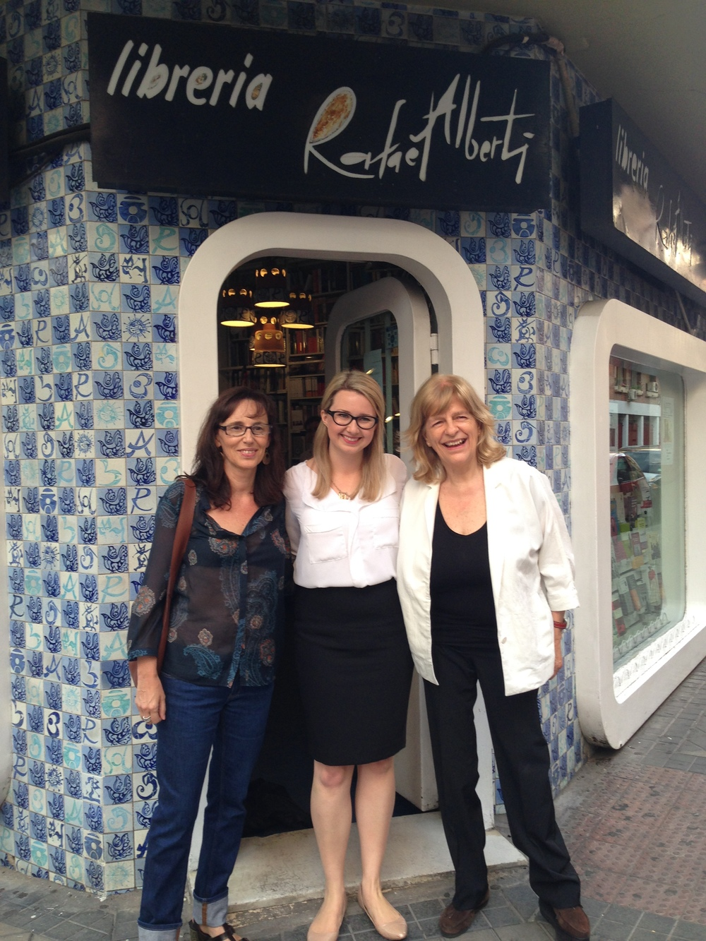 With Spanish translator Laura Vidal, and editor Maria Tenas. In Madrid for a reading at Libreria Rafael Alberti.