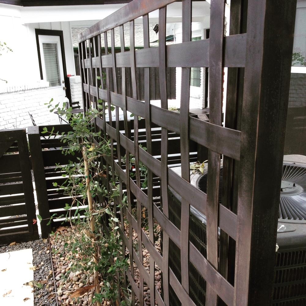 Custom Woven Steel Trellis