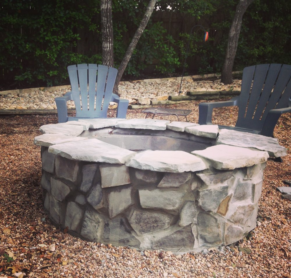 Mortared Stone Firepit