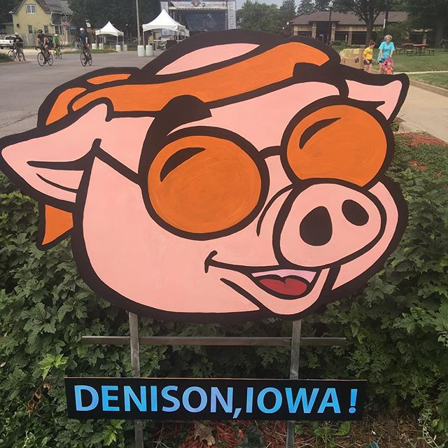 #Denison #iowa is #heavenonearth #freebacon as I rode into town and then free bacon donut as I was hanging around in the town square.