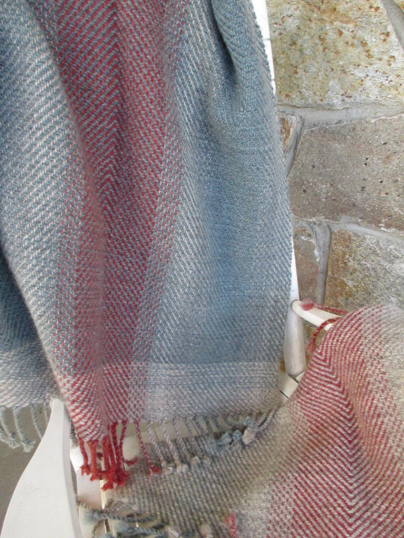 Natural grays, indigo and madder...
