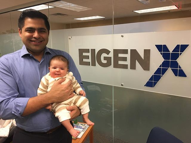 Baby's first visit to the office. She blended right in 👶👶👶. #eigenxbaby #justlikedaddy #eigenx