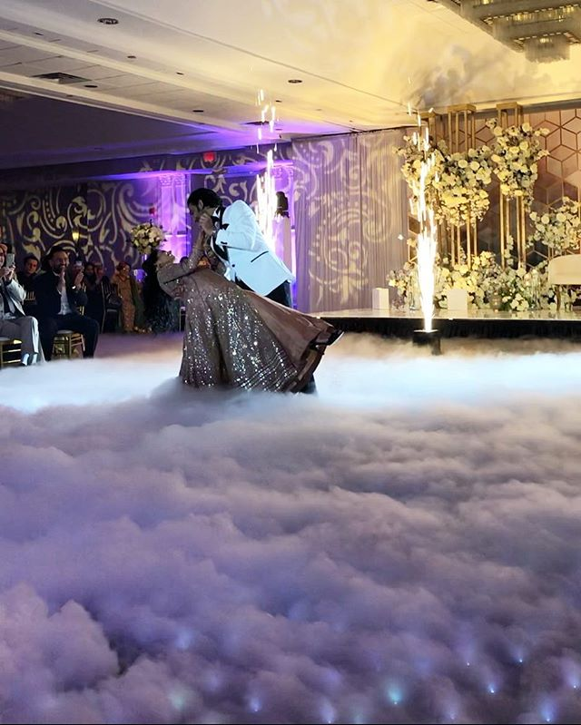 "Dipping, twirling, dancing, ""through an endless diamond sky""... . . Lighting, dance floor, and dreamy dancing on clouds  all provided by @partywithluxe. . . @ruchitdesai_007 @anuja2595 @partywithluxe #dancingonclouds #starlitdancefloor #dj #weddingdj #partywithluxe #djbkphilly #djgauravsood @djgauravllc #indianwedding #dreamy #perfect #firstdance #specialeffects #chauvet #lekos #indoorpyrotechnics #sparks @sheratonmahwahhotel @detailedaffairsteam @charmipena @josephminasistudios @weddingdesignanddecor @jasonsampat"