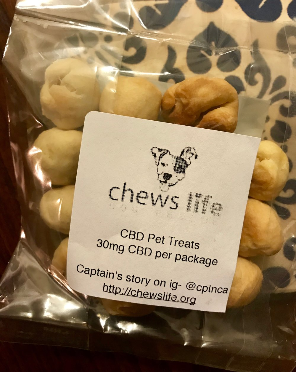 CBD Treats for your dogs! All proceeds go directly towards medical and other needs for our Chews Life Dog Rescue pups! Pricing: $10 for one; $18 for two; $8 per for 3 or more and this includes shipping. Each treat contains 2mg of CBD and there are 15 treats per bag. Recommended dosage is 1-5mg per 10 pounds of body weight. Consult with your veterinarian. To order please click on the image above to go to our PayPal.me. Add CBD treats in the note! Make sure your address is correct. We will sell these ongoing until supplies run out! All treats are GMO-free, all natural and have been lab tested and are certified!