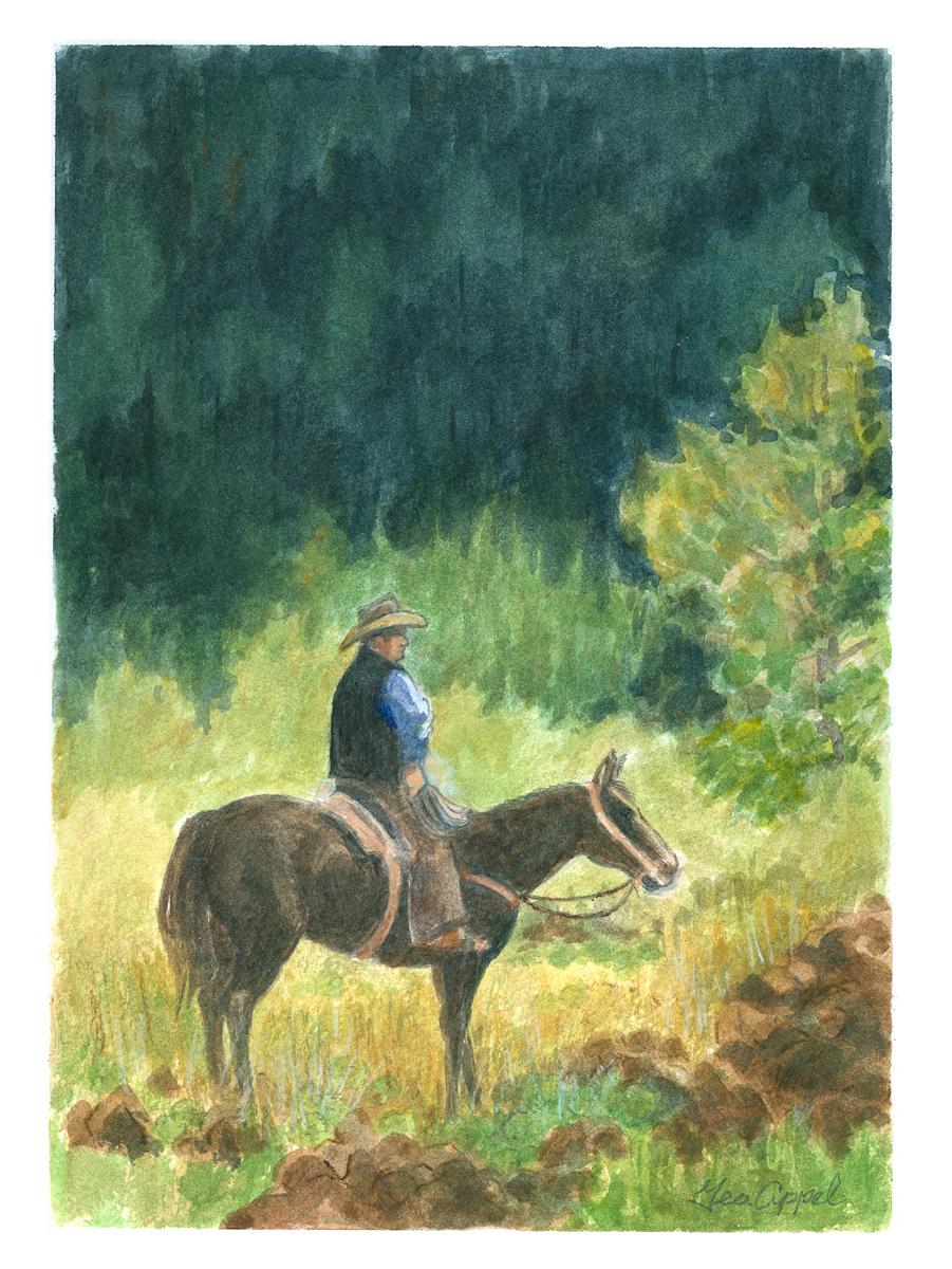 Geo Appel  Cowboy on Horse 9 x 12.jpg