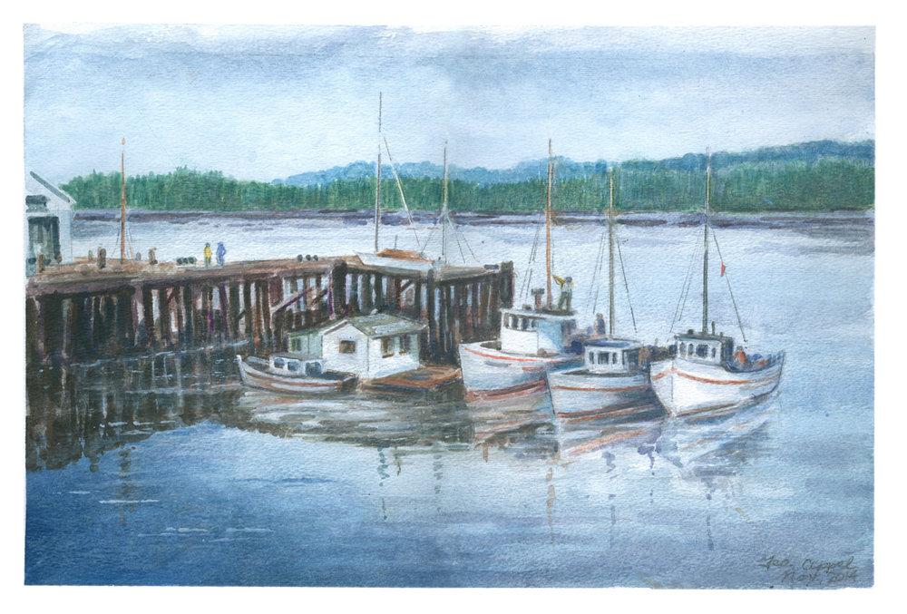 Geo Appel Boats in Bay 11.5x17.jpg