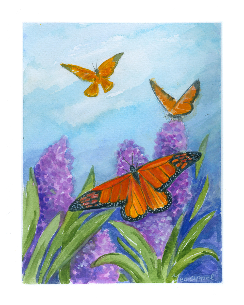 Geo Appel Butterfly on Lilacs 8 x 10.jpg