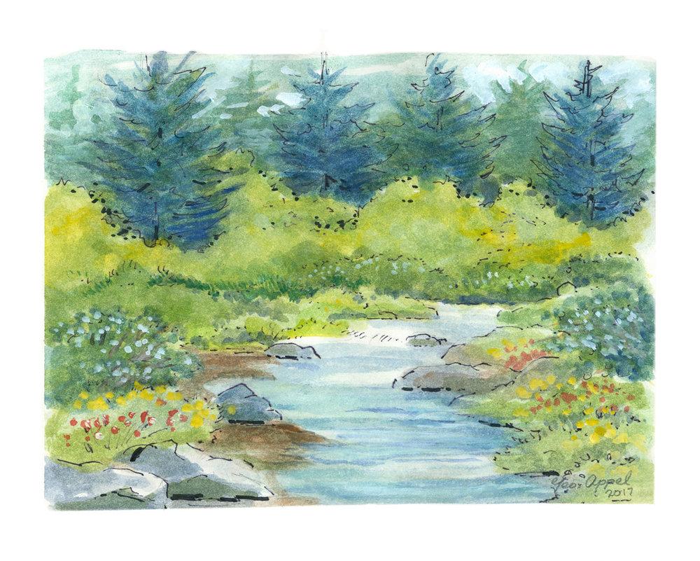 Geo Appel River Flowers & Pines 8 x 10.jpg