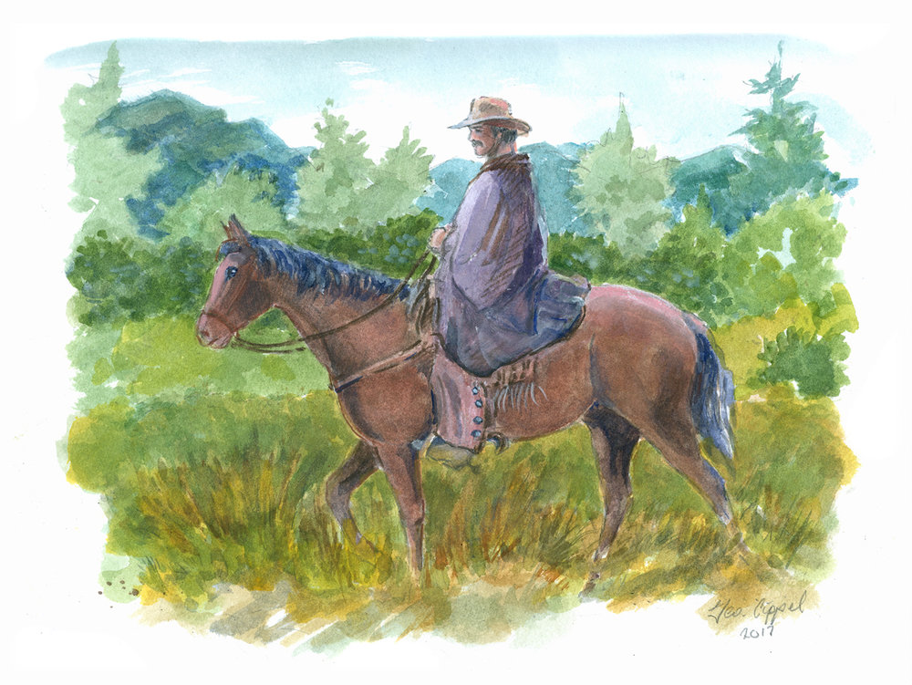 Geo Appel Rider on Horse 9x12.jpg