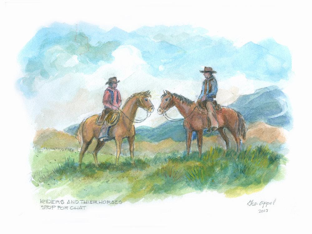 Geo Appel Riders & their Horses... 9x12.jpg