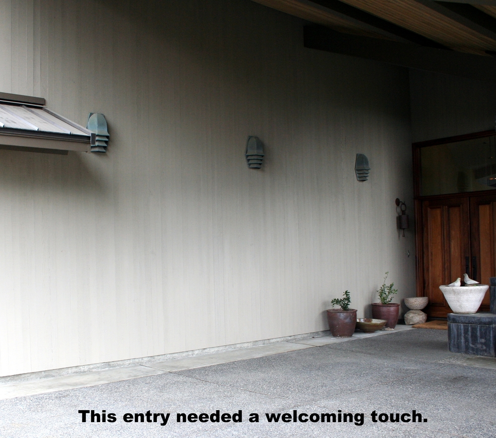 This entry needed a welcoming touch.