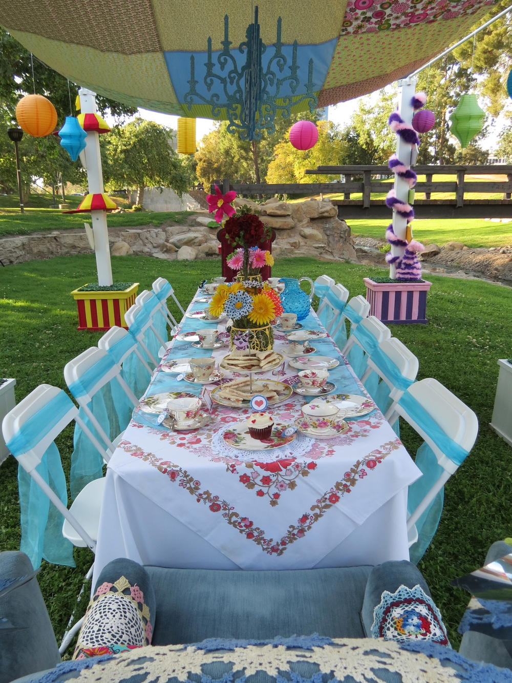 Alice's Traveling Tea Party Main Table