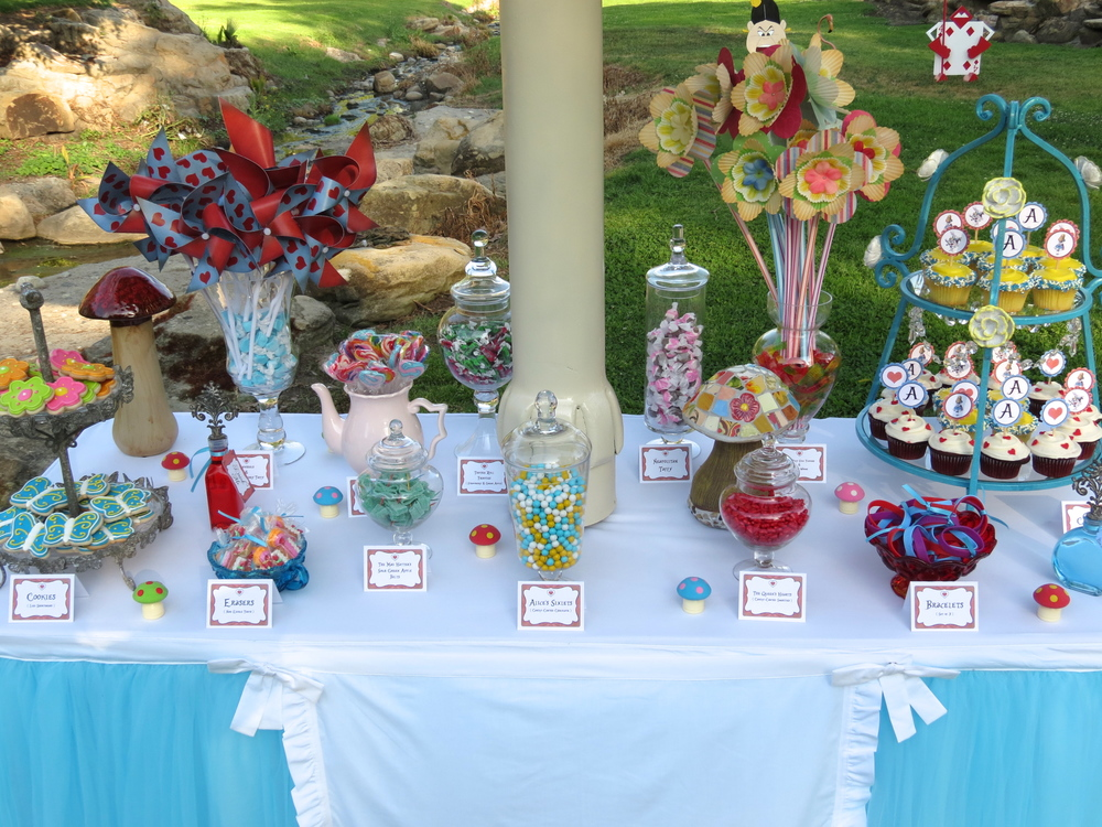 Alice's Traveling Tea Party Sweets Buffet and Mushroom
