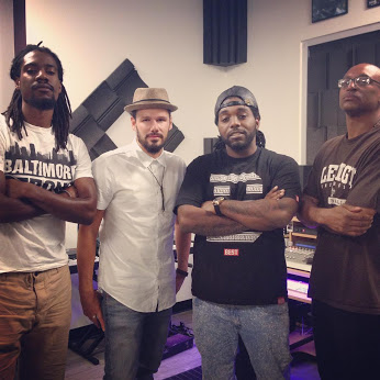 R-L: Sound Engineer Malcolm Lee, Ronnie Lee Music, Traxamillion and The Bishop
