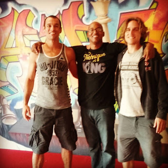 Ryron Gracie, Adisa Banjoko and Ralston Gracie at new HHCF HQ