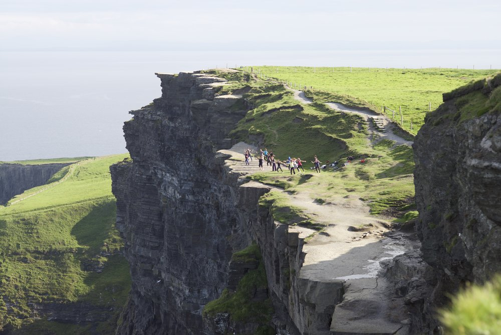 Training on the Cliffs of Moher, Co. Claire, Ireland