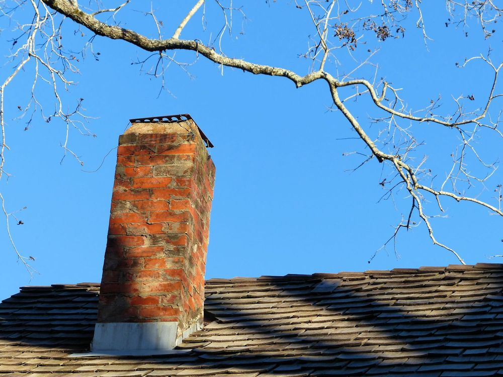 Chimney on the Kleb farmhouse