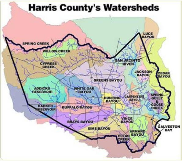 Houston and a lot of suburban towns are in Harris County