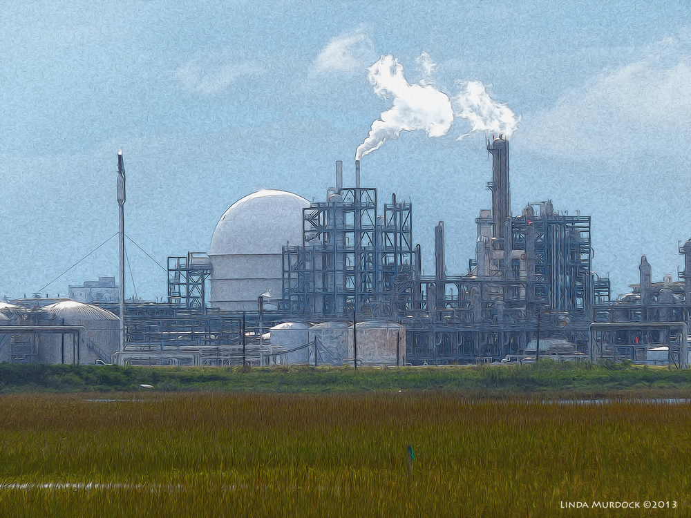 Refineries in the distance. Making money for the Gulf Coast