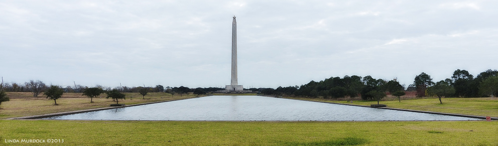 Panorama of the monument and reflecting pool. This was made with 3 photos and stitched together with Photoshop