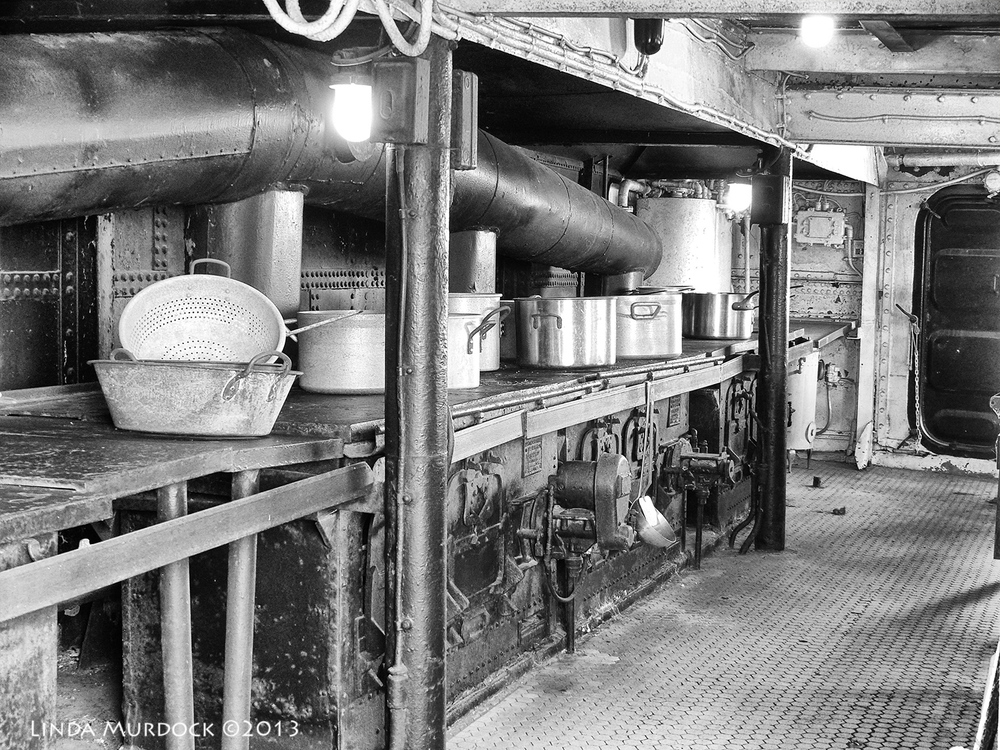 Crew's Galley in black&white