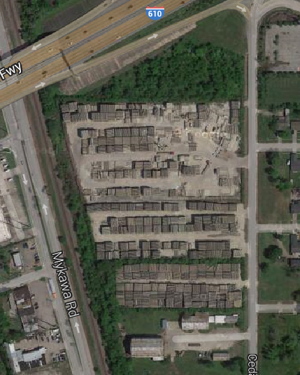 Google map of South Loop 610 near Wayside