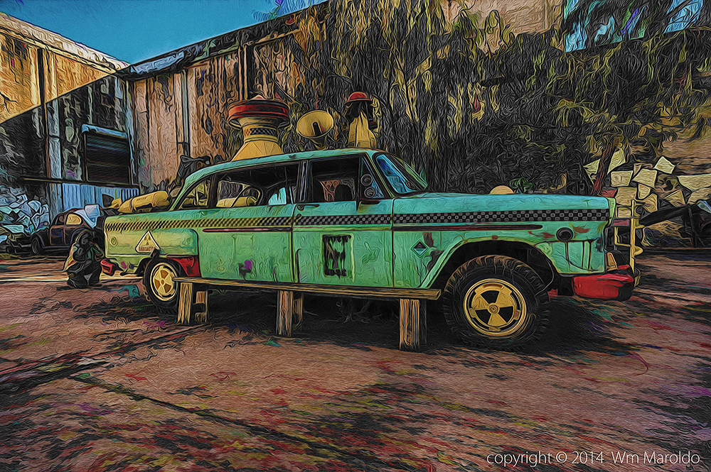 Retired tech writer behind retired Art Car Photography and Digital Art by William Maroldo